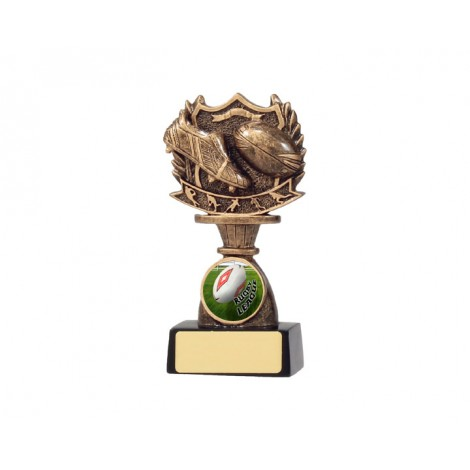 Rugby Shield Resin Trophy