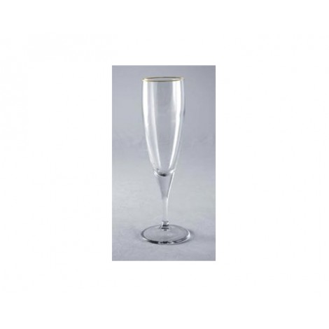 32. Circleware 'Biltmore' Champagne Flute with Gold Rim, 235ml