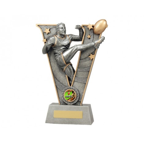 Aussie Rules 'V' Series Resin Trophy