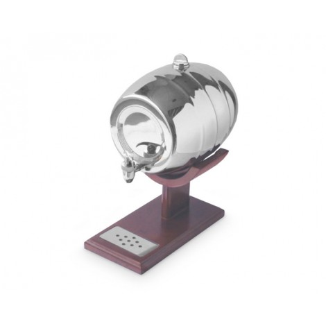 09. Stainless Steel 2ltr Barrel with Wooden Stand