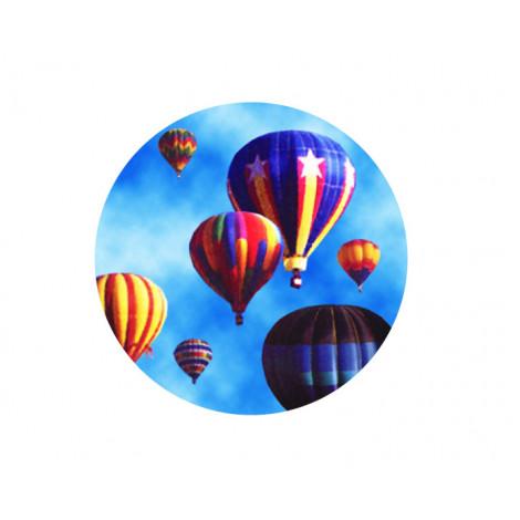 Hot Air Balloon Acrylic Button