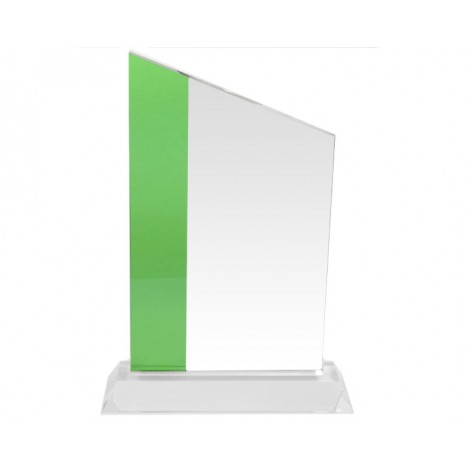 95. Crystal Clear with Green Stripe Award