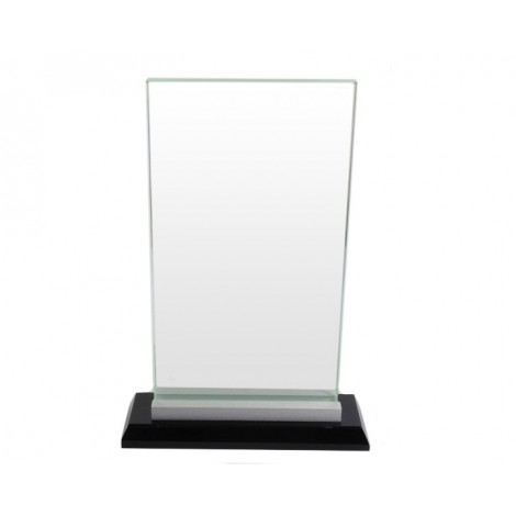 Rectangular Glass on Chrome & Black Base
