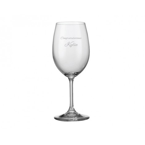 Wine Glass- Sample Laser Etching
