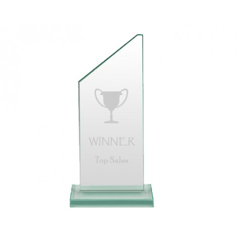 Glass Award - Sample Laser Etching