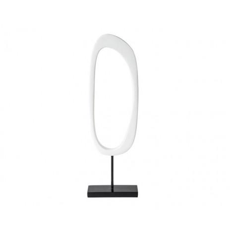 07.  White Wind Shape Abstract Award on Base