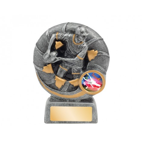 Female Touch Football 'Dynamite' Series Resin Trophy