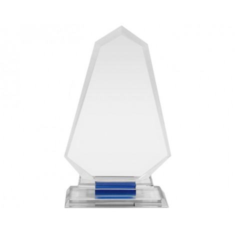 Clear Glass Spearhead Blue Reflection