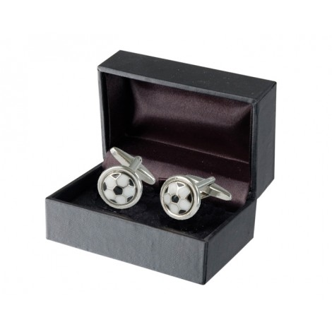 A180. Mens Cufflinks Soccer, Gift Boxed