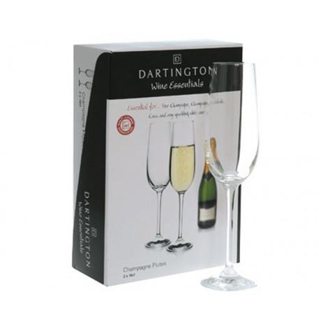 02.  Dartington Crystal Champagne Flutes, Set of 2