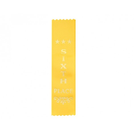 Sixth Place Yellow Ribbon, Gold Foiled Finish