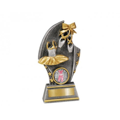 Ballet' Gold/Silver Resin Trophy