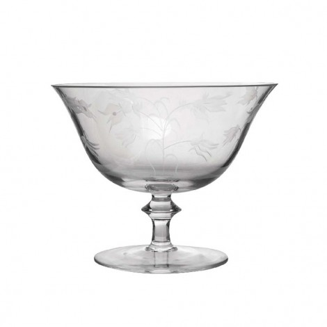 Visla Glass 'Poema' Decorated Footed Bowl