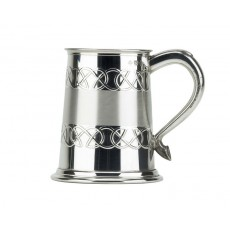 23. British Pewter Celtic Satin Band Tankard