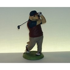 20. Golden Retriever Golfer, 155mm