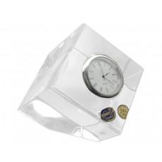 14. Bohemia Crystal Geo Cube Clock