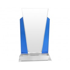 Clear & Blue Reflection Crystal Award
