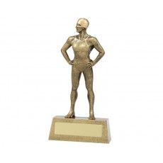 Female Swimming Hero Resin Trophy