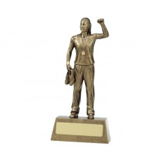 Athletics Female Hero Resin Trophy