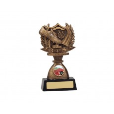 Track Shield Resin Trophy