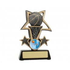 Basketball Bursting Star Resin Trophy