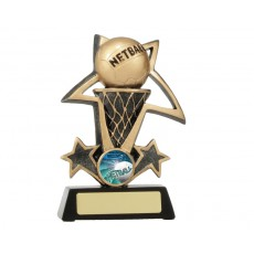 Netball 'Bursting Star' Resin Trophy