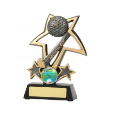 Hockey Bursting Star Resin Trophy