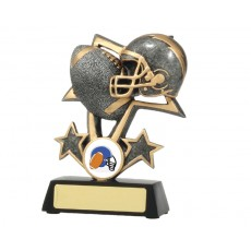 Gridiron Bursting Star Resin Trophy