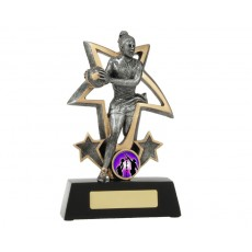Netball 'Action Bursting Star' Resin Trophy