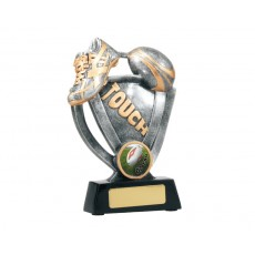 21. Large Touch Football Boot & Ball Resin Trophy
