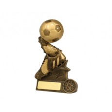 Football / Soccer 'Football Duo' Resin Trophy