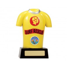 02. Medium Surf Rescue Lifesaving Shirt Resin Trophy