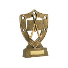 Hockey Shield & Stars Resin Trophy