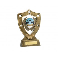21. Large Shield Shape Resin Trophy