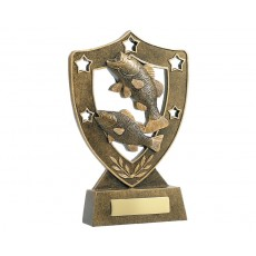 Fishing Shield Resin Trophy