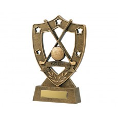 Golf & Stars Shield Resin Trophy