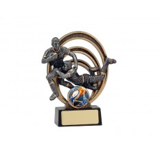 Double Rugby Halo Resin Trophy