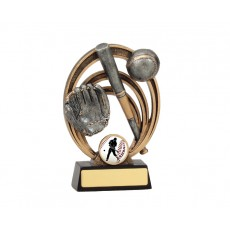 Baseball Halo Resin Trophy