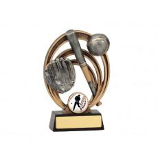Baseball Halo Resin Trophy