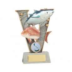Fishing 'V' Series Resin Trophy