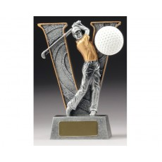 06. Golf 'V' Series Resin Trophy