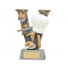 01. Cooking 'Chefs Hat' V Series Resin Trophy