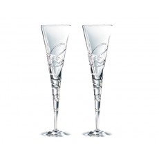 20. Royal Doulton 'Nouveau Saturn' Crystal Champagne Flutes, Set