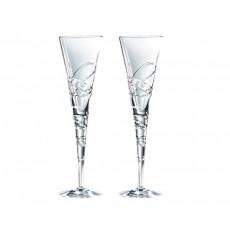 20. Royal Doulton 'Nouveau Saturn' Crystal Champagne Flutes, Set