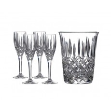 09. Royal Doulton Crystal Champagne Set