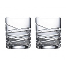 Royal Doulton 'Saturn' Crystal Whisky, Set of 2