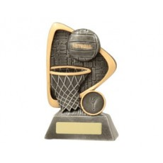 Netball 'Ball and Net' Resin Trophy