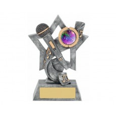 12. Music & Microphone Star Resin Trophy