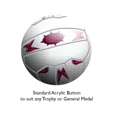 Netball Acrylic Button
