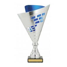 Cup Fan  Blue/Silver